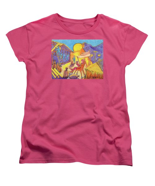 Rich Fool Parable Painting By Bertram Poole Women's T-Shirt (Standard Cut) by Thomas Bertram POOLE