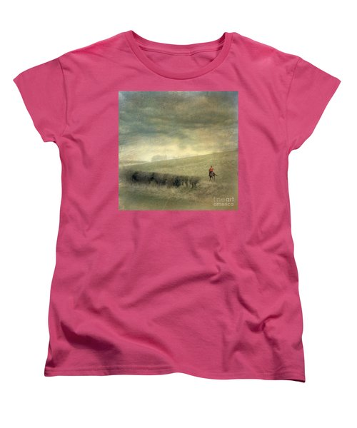 Women's T-Shirt (Standard Cut) featuring the photograph Rider In The Storm by LemonArt Photography