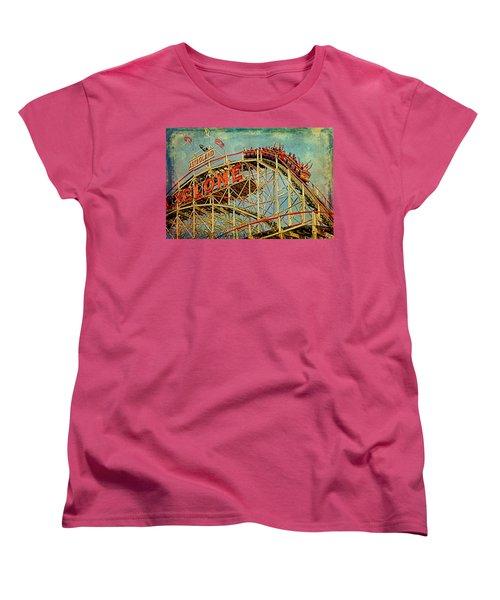 Riding The Cyclone Women's T-Shirt (Standard Cut) by Chris Lord