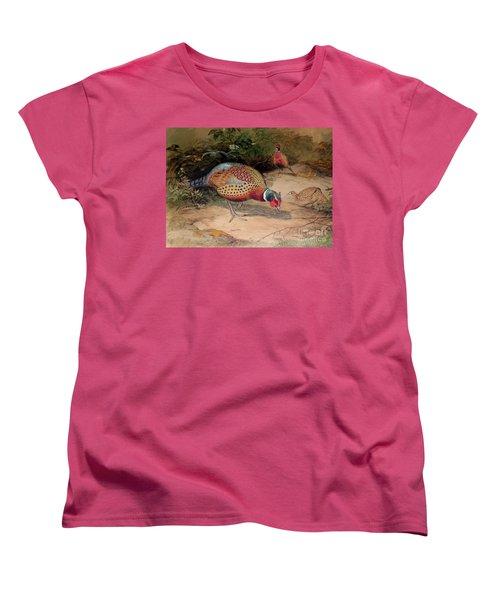 Ring Necked Pheasant Women's T-Shirt (Standard Cut) by Joseph Wolf