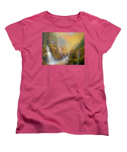 Rivendell Wisdom Of The Elves. Women's T-Shirt (Standard Cut) by Joe  Gilronan