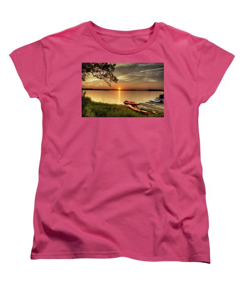 Women's T-Shirt (Standard Cut) featuring the photograph River Road Park Never Disappoints by Phil Mancuso