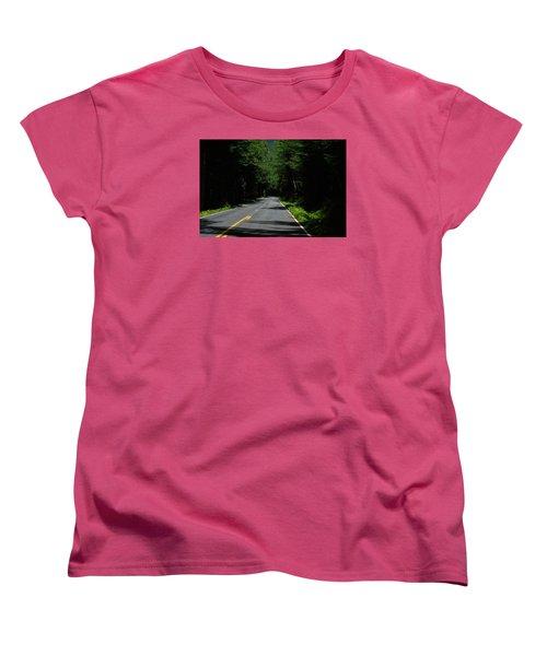 Road Leading To Where? Women's T-Shirt (Standard Cut) by John Rossman