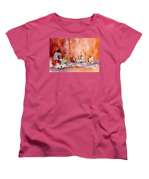Robert Plant And Jimmy Page In Morocco Women's T-Shirt (Standard Cut) by Miki De Goodaboom