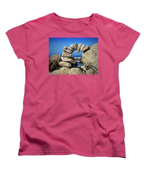 Rock Art One Women's T-Shirt (Standard Cut) by Joyce Dickens