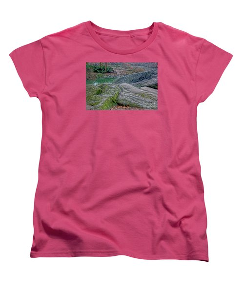 Women's T-Shirt (Standard Cut) featuring the photograph Rocks At Central Park by Sandy Moulder