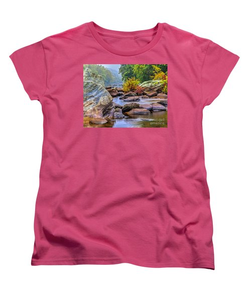 Women's T-Shirt (Standard Cut) featuring the photograph Rockscape by Tom Cameron