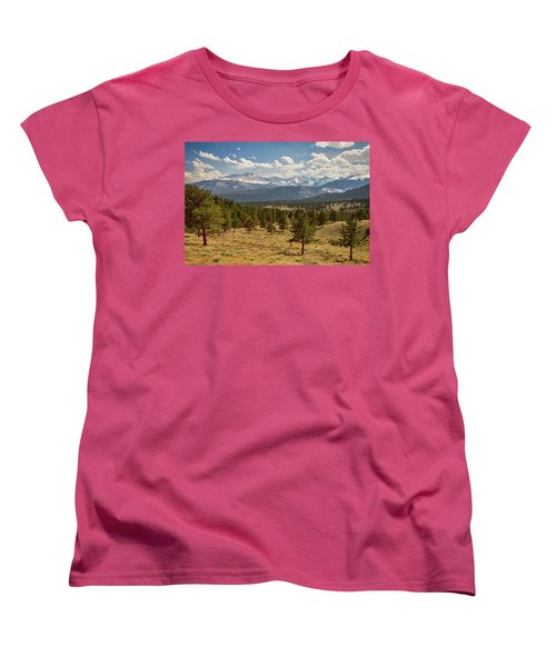 Women's T-Shirt (Standard Cut) featuring the photograph Rocky Mountain Afternoon High by James BO Insogna
