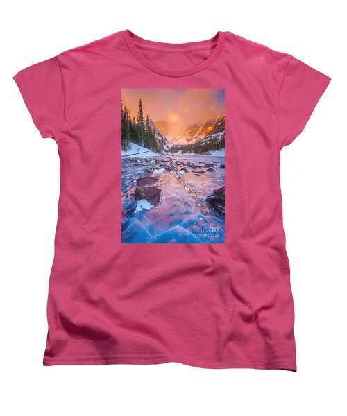 Rocky Mountain Sunrise Women's T-Shirt (Standard Cut) by Steven Reed