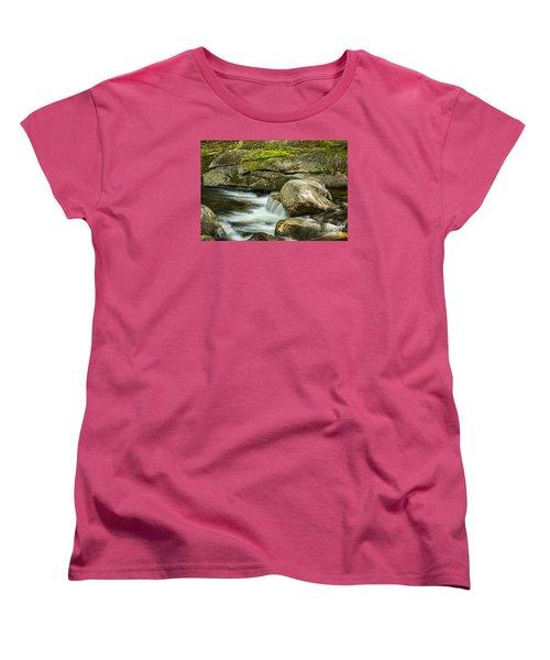 Women's T-Shirt (Standard Cut) featuring the photograph Rocky Stream by Alana Ranney
