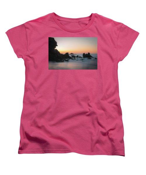 Rocky Sunrise Women's T-Shirt (Standard Cut) by Ralph Vazquez