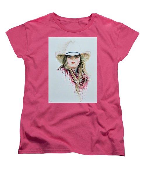 Rodeo Red Women's T-Shirt (Standard Cut) by Traci Goebel