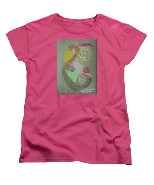 Women's T-Shirt (Standard Cut) featuring the drawing Roley Poley Vertical by Rod Ismay