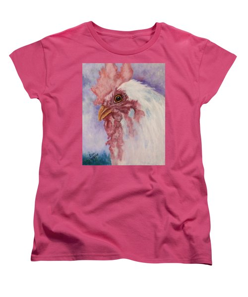 Women's T-Shirt (Standard Cut) featuring the painting Rooster by Dan Wagner