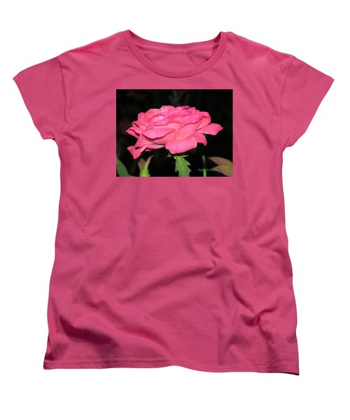 Women's T-Shirt (Standard Cut) featuring the photograph Rose 1 by Phyllis Beiser
