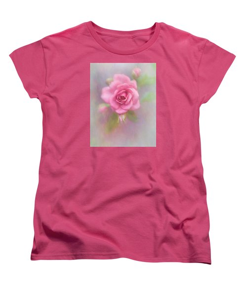 Rose Of Pink Women's T-Shirt (Standard Cut) by David and Carol Kelly