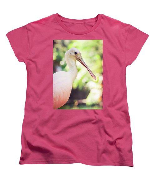 Roseate Spoonbill Women's T-Shirt (Standard Cut) by Heather Applegate
