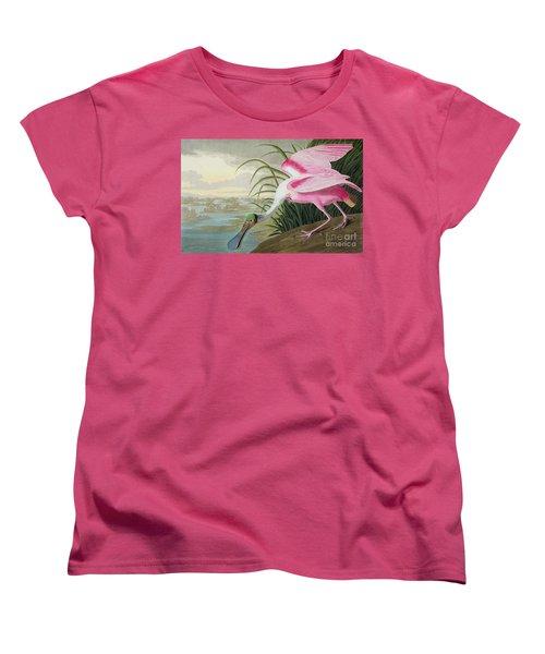 Roseate Spoonbill Women's T-Shirt (Standard Cut) by John James Audubon