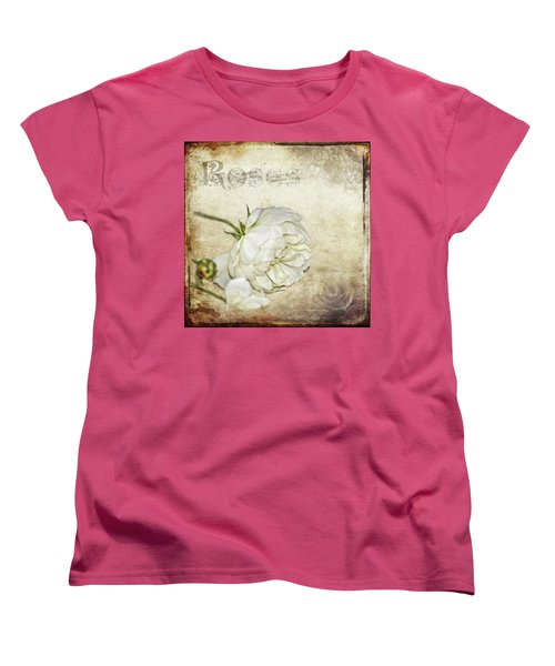Women's T-Shirt (Standard Cut) featuring the photograph Roses by Carolyn Marshall