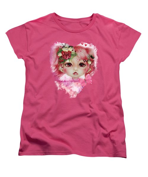 Women's T-Shirt (Standard Cut) featuring the drawing Rosie Valentine - Munchkinz Collection  by Sheena Pike