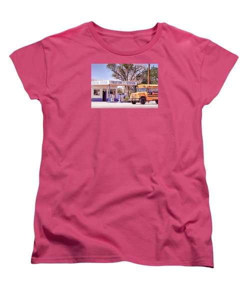 Women's T-Shirt (Standard Cut) featuring the photograph Route 66 Impression by Juergen Klust