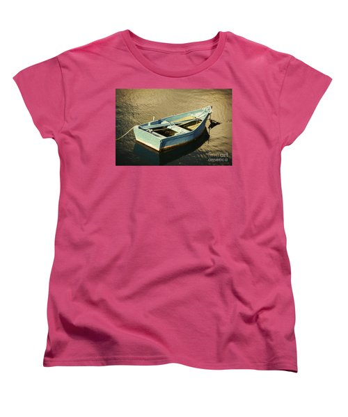 Rowboat At Twilight Women's T-Shirt (Standard Cut) by Mary Machare