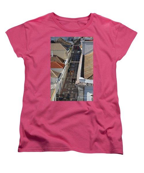 Rua Do Crime In Faro Women's T-Shirt (Standard Cut) by Angelo DeVal