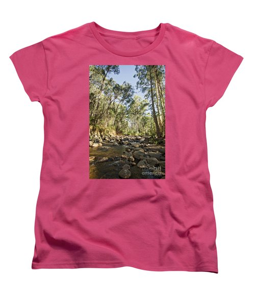Women's T-Shirt (Standard Cut) featuring the photograph Rubicon River by Linda Lees