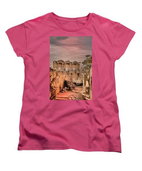 Ruins Of Ephesus Women's T-Shirt (Standard Cut) by Tom Prendergast