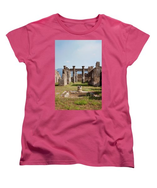 Ruins Of Pompeii Women's T-Shirt (Standard Cut) by Ivete Basso Photography