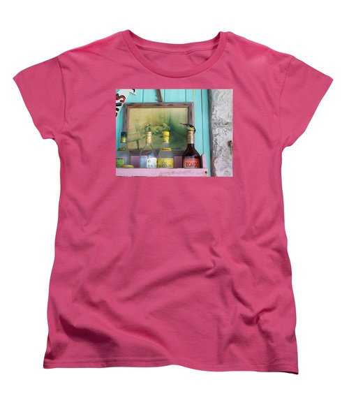 Women's T-Shirt (Standard Cut) featuring the photograph Rum Shack Bananaquit by Mary-Lee Sanders