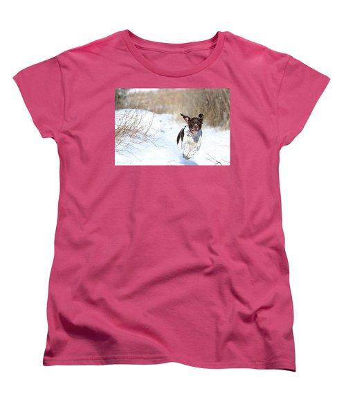 Run Millie Run Women's T-Shirt (Standard Cut) by Brook Burling