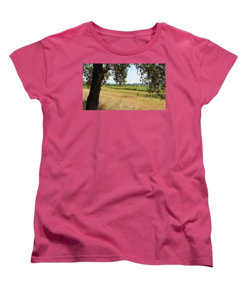 Women's T-Shirt (Standard Cut) featuring the photograph Rural Tuscany by Valentino Visentini