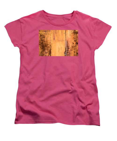 Women's T-Shirt (Standard Cut) featuring the photograph Rust On Metal Texture by John Williams
