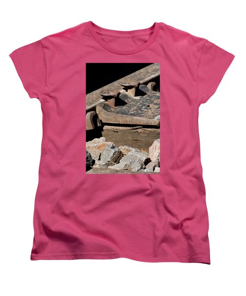 Rusted Rail Women's T-Shirt (Standard Cut) by Colleen Coccia