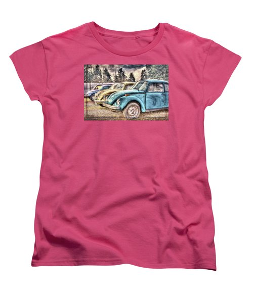 Women's T-Shirt (Standard Cut) featuring the photograph Rusty Bugs by Jean OKeeffe Macro Abundance Art