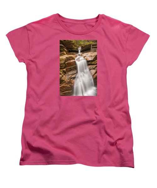 Sabbaday Falls Women's T-Shirt (Standard Cut) by Brenda Jacobs