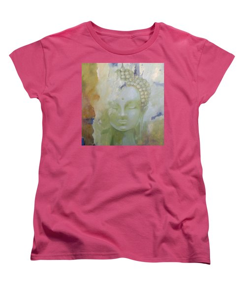 Women's T-Shirt (Standard Cut) featuring the painting Sage Buddha by Dina Dargo