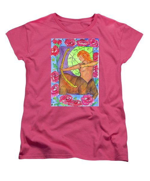 Women's T-Shirt (Standard Cut) featuring the painting Sagittarius by Cathie Richardson