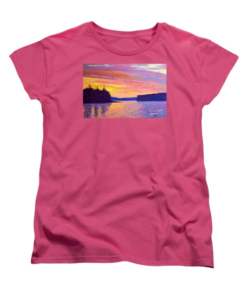 Sailing Home Sunset Women's T-Shirt (Standard Cut) by Rae  Smith