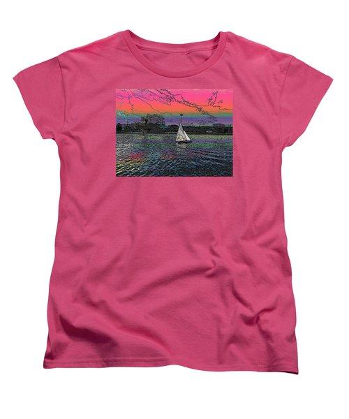 Sailing South Lake Union Women's T-Shirt (Standard Cut) by Tim Allen
