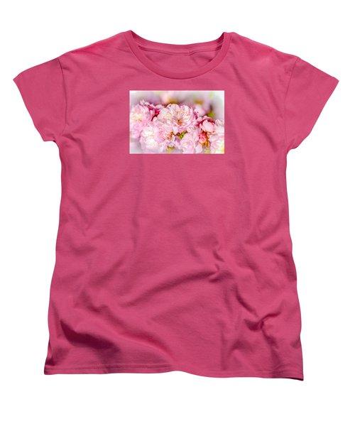 Women's T-Shirt (Standard Cut) featuring the photograph Sakura Cherry Flower - Wedding Bouquet by Alexander Senin