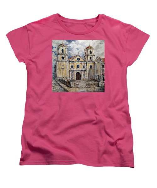 San Agustin Church 1800s Women's T-Shirt (Standard Cut) by Joey Agbayani