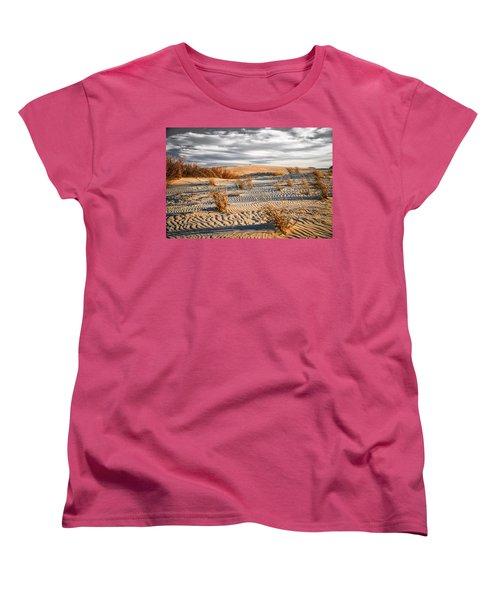 Sand Dune Wind Carvings Women's T-Shirt (Standard Cut)