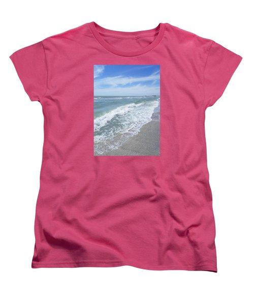 Women's T-Shirt (Standard Cut) featuring the photograph Sand, Sea, Sun, No.2 by Ginny Schmidt
