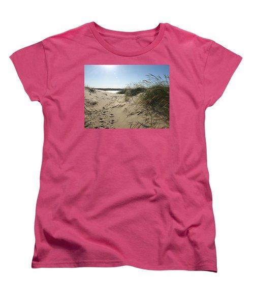 Sand Tracks Women's T-Shirt (Standard Cut) by Tara Lynn