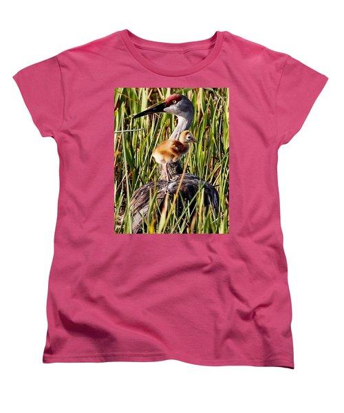 Sandhill Crane And Colt Women's T-Shirt (Standard Cut)