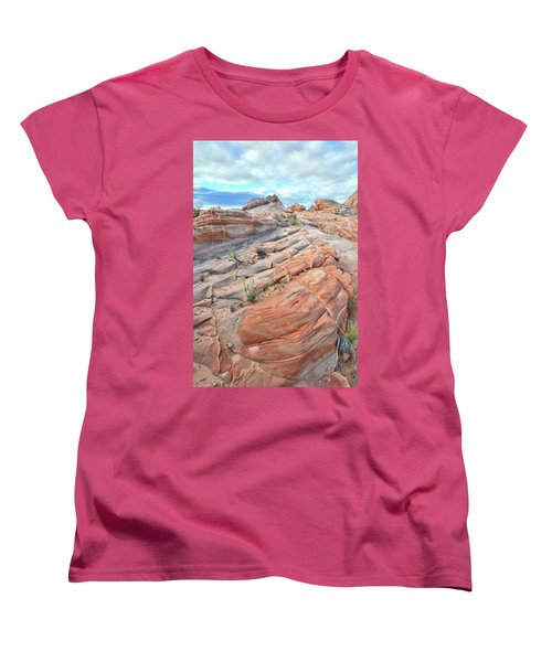 Sandstone Crest In Valley Of Fire Women's T-Shirt (Standard Cut) by Ray Mathis