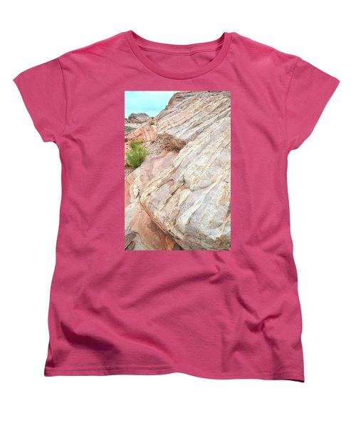 Women's T-Shirt (Standard Cut) featuring the photograph Sandstone Feet In Valley Of Fire by Ray Mathis