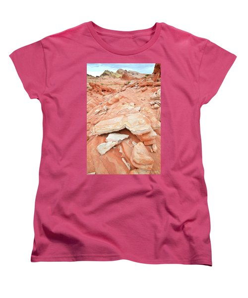 Women's T-Shirt (Standard Cut) featuring the photograph Sandstone Heart In Valley Of Fire by Ray Mathis
